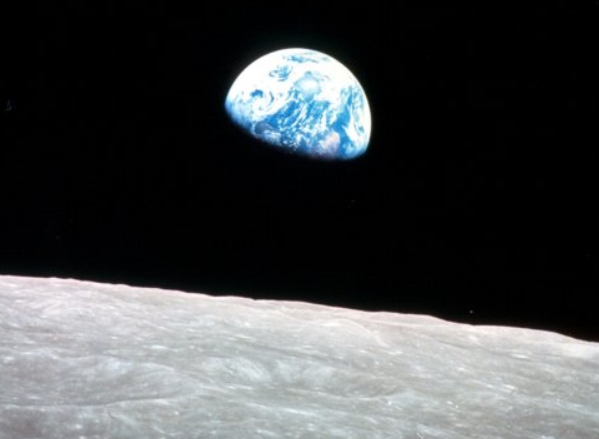 """""""Earthrise"""" – taken from the Apollo 8 Command Module"""