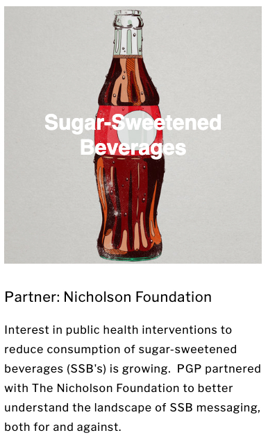 One of Orville's areas of focus is on helping educate the public on the danger of sugar-sweetened beverages and their healthy alternatives.