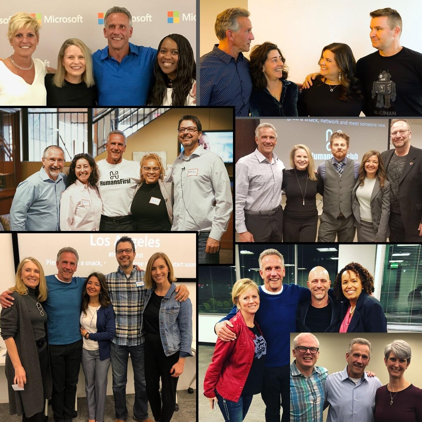 """""""There's an overemphasis on waiting for somebody else to create the change."""" Mike, mixing it up with some of his guest speakers and participants at #HumanFirst Club events."""