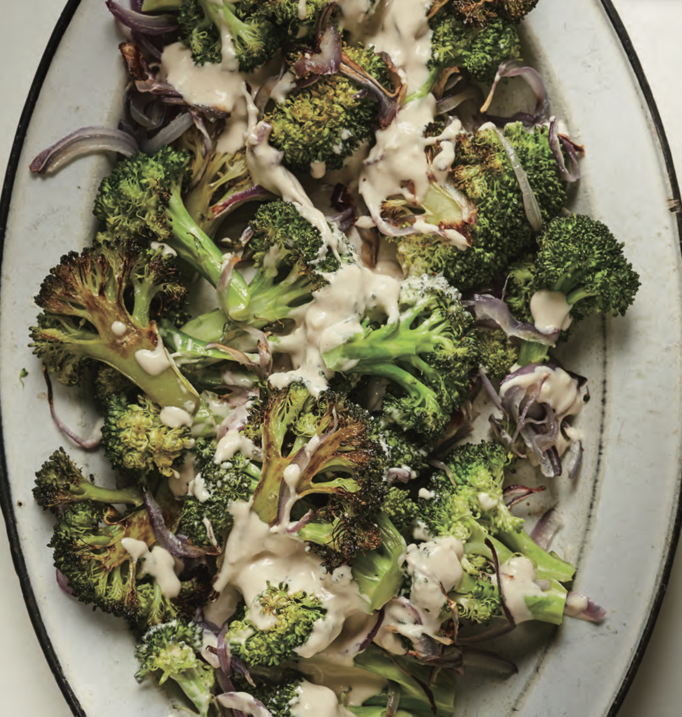 Roasted Broccoli Salad With Tahini Dressing Mark Bittman