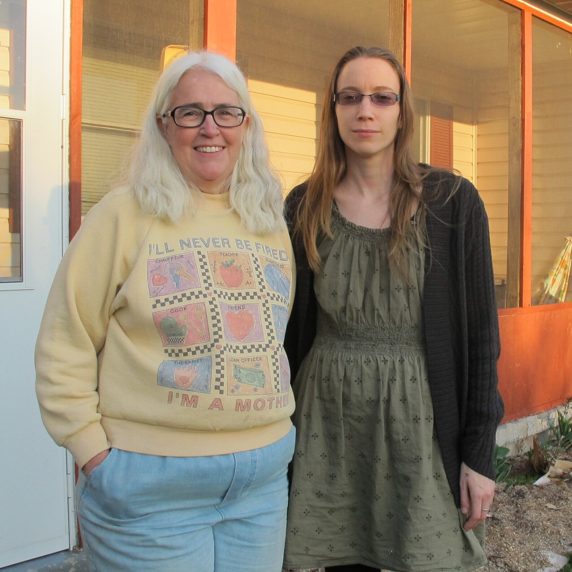 Ellen and Elise Gerhart  (Pennsylvania, United States) are a mother-daughter team who resisted the seizure of their land by eminent domain for the construction of a natural gas pipeline which would transport natural gas liquids for the production of plastics. Ellen and Elise welcomed protestors and resisters onto their land to form Camp White Pine, holding tree stands to block the pipeline construction. In 2018, Ellen, a retired schoolteacher and grandmother, was arrested for nonviolently resisting the pipeline construction.