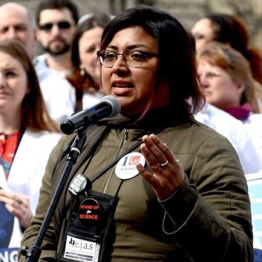 Yvette Arellano  (Texas, United States) is a powerhouse organizer and emerging leader from Houston dedicated to the causes of environmental and racial justice. She serves as a policy research and grassroots advocate with Texas Environmental Justice Advocacy Services. In 2015, they led the campaign against H.R. 702, which opened the floodgates to U.S. crude oil exports. Yvette represented the Gulf South and T.e.j.a.s at the United Nations COP21 in Paris. They were instrumental in the joint 2016 publication Double Jeopardy in Houston and Air Toxics and Health in the Houston Community of Manchester between the Union of Concerned Scientists and T.e.j.a.s, revealing deep environmental injustice the belly of the beast, Houston. In 2018, Yvette was recognized with the GreenLatinos Emerging Leader Award. Her most recent contribution can be read in Plastic and Health: The Hidden Cost of a Plastic Planet highlighting Tejas' focus on human health impacts of petrochemicals involved in plastics production, chemical clusters, risk of accidents and the lack of community engagement and access to information. Throughout her work, Yvette strives to emphasize that access to clean water, air, land, and food is a fundamental human right best pursued through vigorous intersectional thinking and organizing. She has testified before the House and Energy