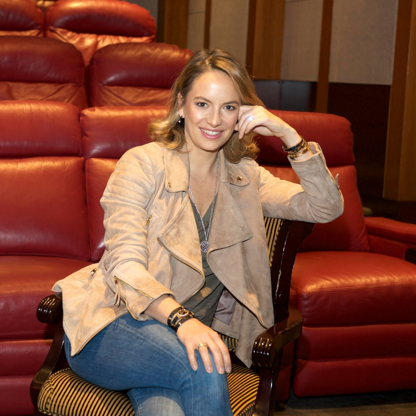 """Coralie Charriol (EXECUTIVE PRODUCER)  daughter of Philippe Charriol, is currently Vice President and Creative Director for jewelry and leather goods at CHARRIOL, the Swiss luxury marquee created by her father in 1983. Coralie lives in New York City with her husband and 3 young children. She was born in Hawaii and has since lived in Hong Kong, Geneva, London, Paris, and Boston. She speaks 5 languages and loves to travel as much as possible. To date, she has designed nearly 100 different collections of leather goods and jewelry for her family's business. If this wasn't enough, she started a nonprofit called REACT to FILM with her husband which engages in research and curriculum development for Middle and High Schools, providing them with educational resources and support for courses on social issues through documentary films. REACT to FILM allows schools to educate on a spectrum of social ailments from the psychosocial effects of war on nutrition, gun policy to gender inequity, conflict mediation to homelessness. Their goal is to promote social responsibility and spark civic engagement. This Spring, Coralie will be honored by the French American Fund for her outstanding contributions through React to Film towards educating and improving the lives of young adults and children. The award will be called """"children come first"""" and her organization, React to Film, is celebrating its 10 year anniversary this year."""