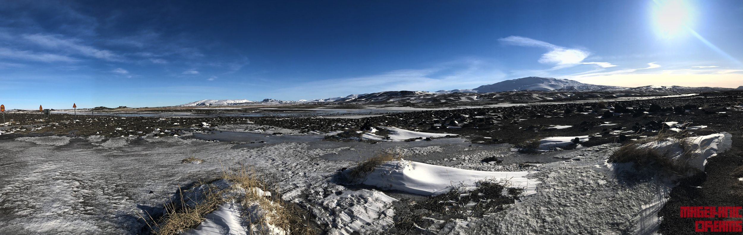 Panorama from Road 25 - You can see Hekla Volcano and beginning of F-225