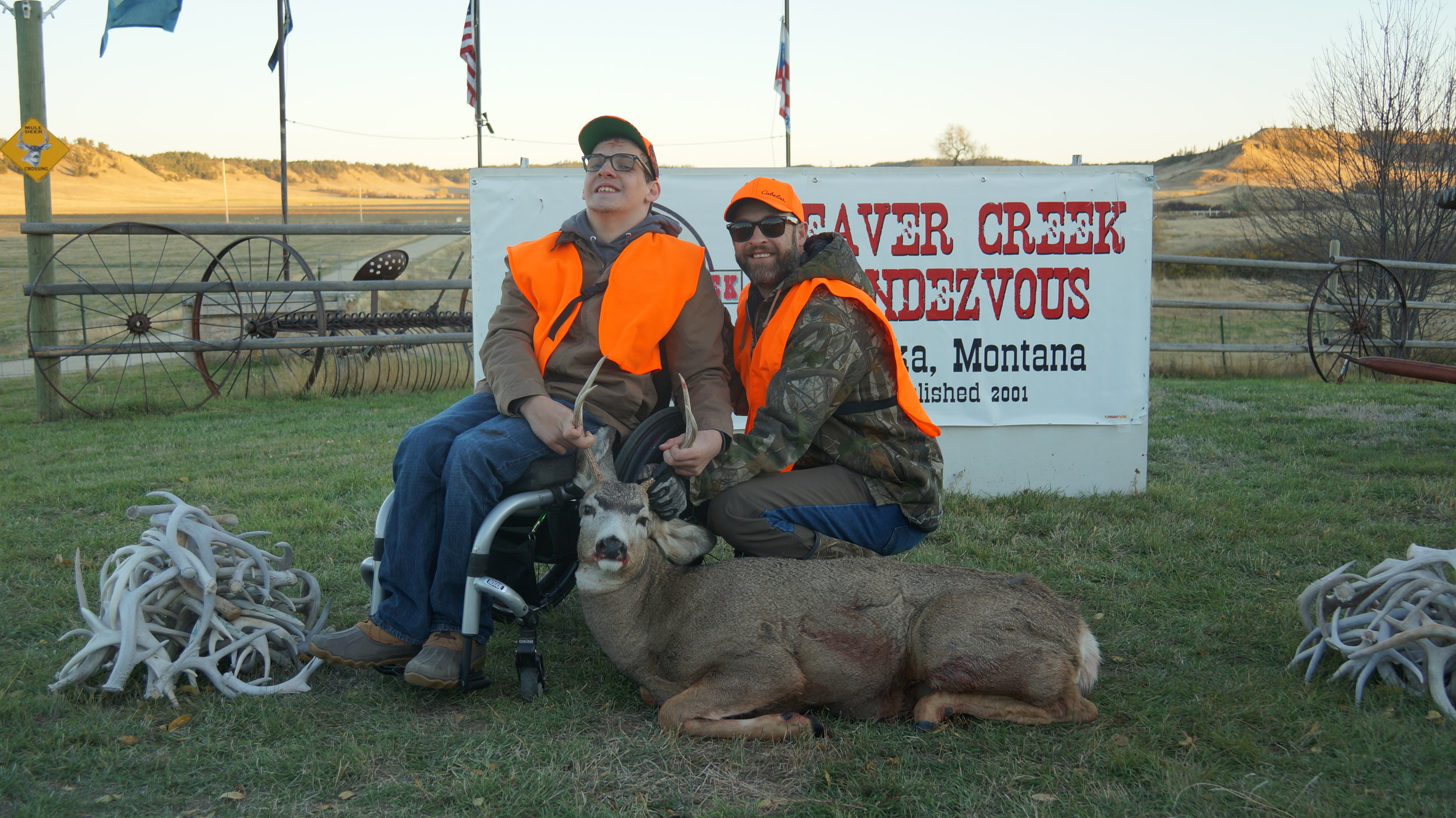 Duncan and Casey Cumby - In October of 2017 my son Duncan and I had a once in a lifetime opportunity to be a part of The Beaver Creek Rendezvous. It was an experience full of memories, friends and opportunities that will last a lifetime for both of us. We were overwhelmed with the love and compassion exhibited from the volunteer staff and entire community of Ekalaka, Montana. Their desire to make dreams come true and to make a positive impact in the lives of others is an example that others can only strive to achieve. We would like to thank everyone involved for a successful harvest of Duncan's first mule deer and a memory that will be with us for the rest of our lives. – Casey Cumby