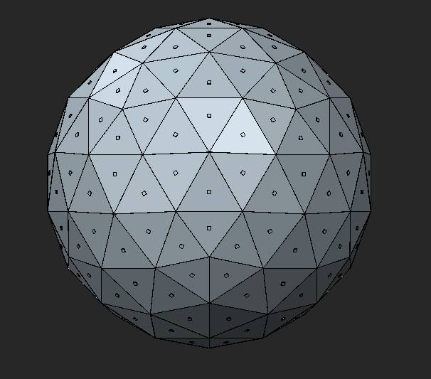 It all started with an idea. What if I made a totem with a ton of LEDs? I did some research on the geometry of geodesic spheres and created a quick mock up in CAD. Originally I was looking at 1 LED per panel.