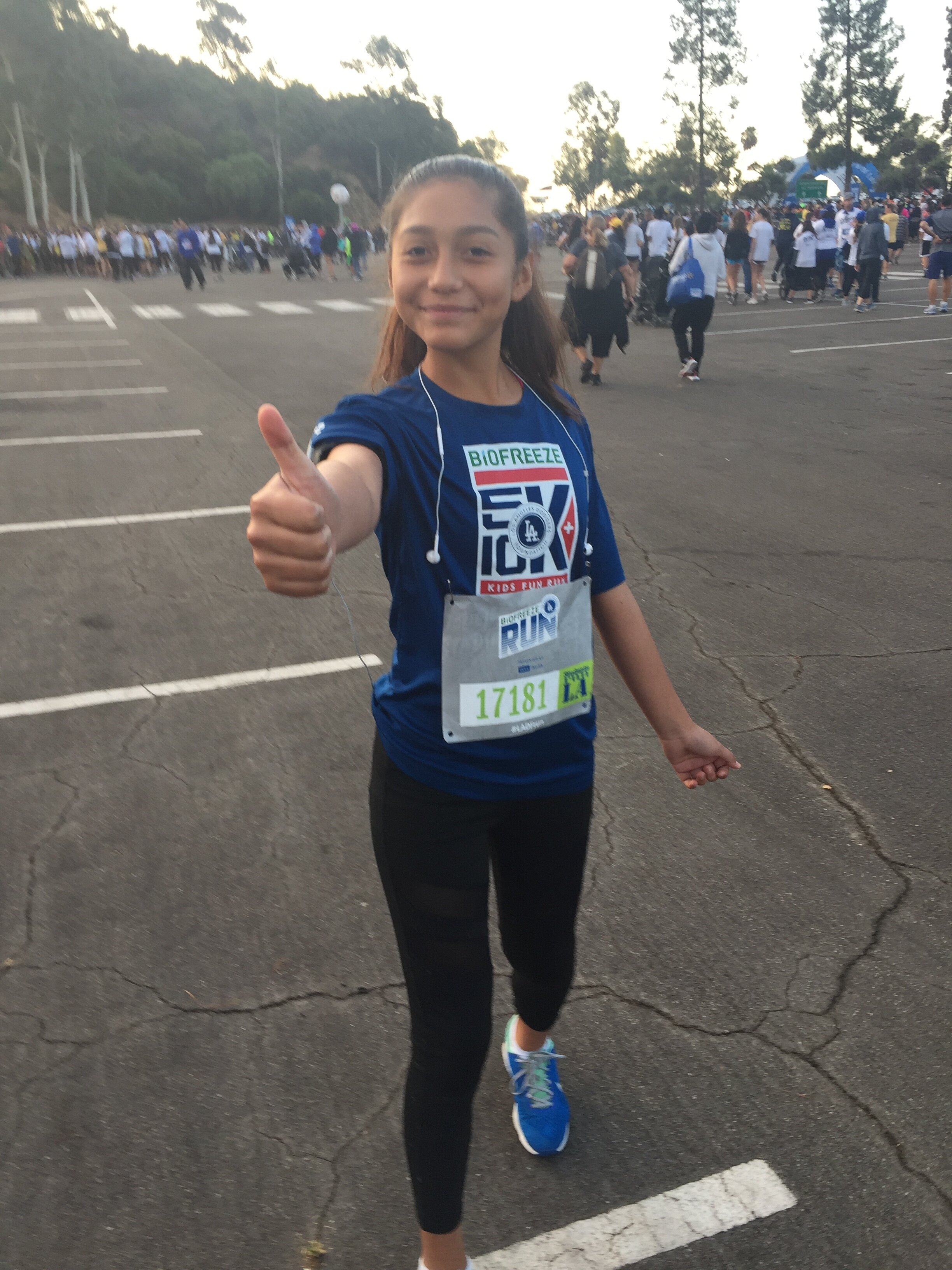 Monique - about to begin the Dodgers Foundation 5K
