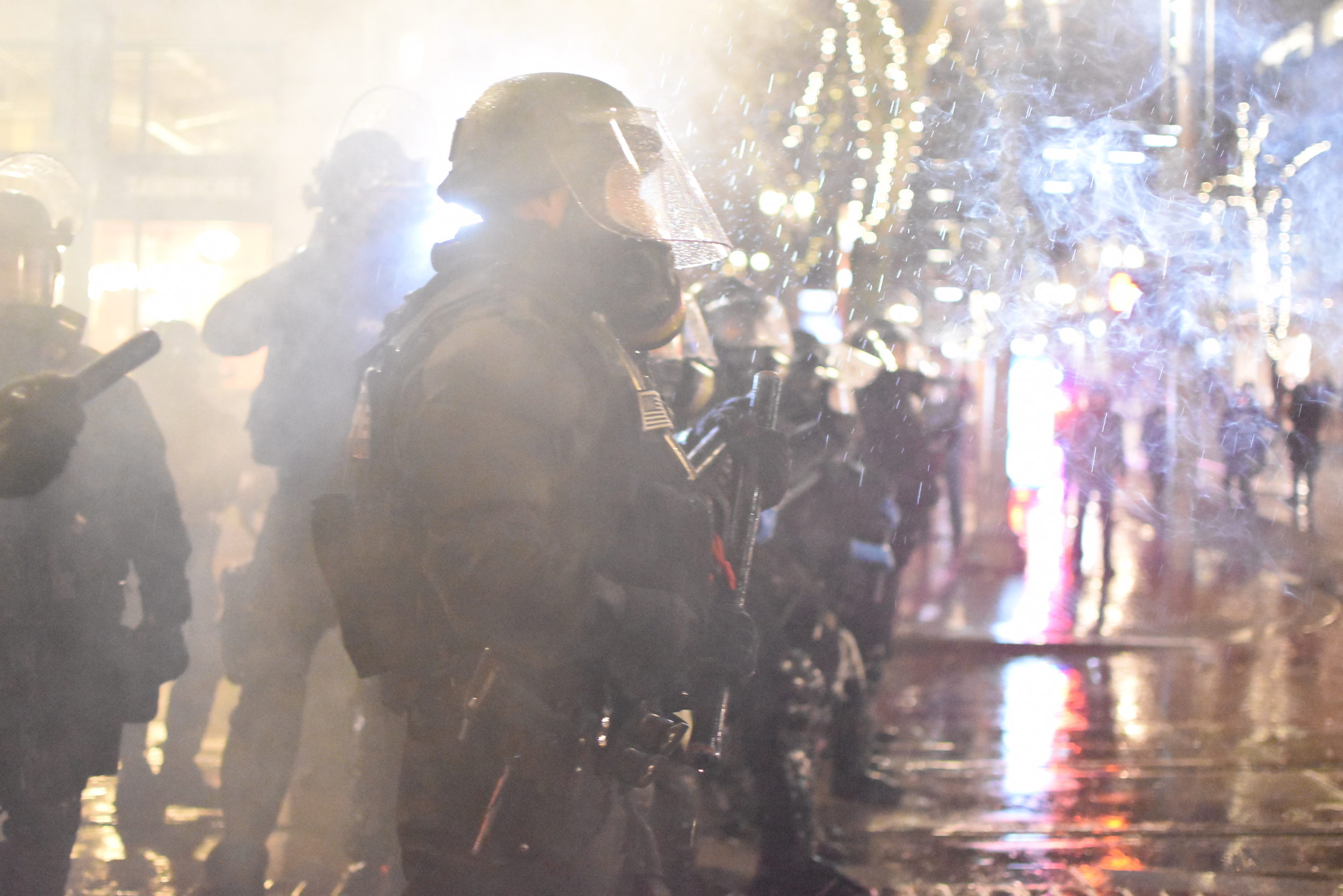"""Portland Mercury - """"Police Blasted and Tear Gassed an Inauguration Day Protest"""""""