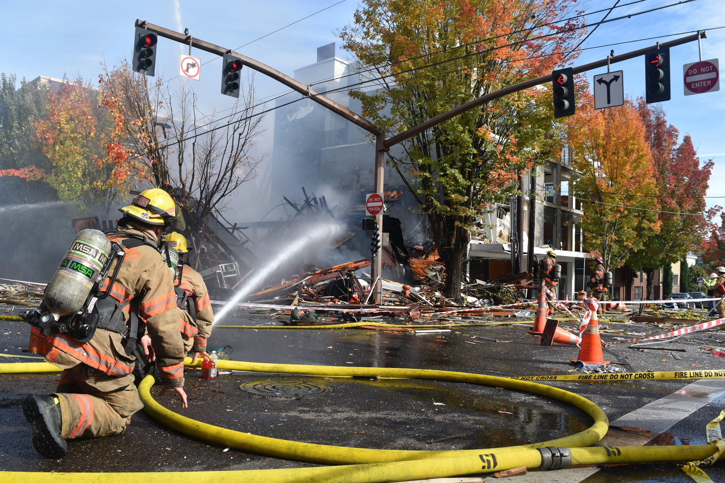 """Portland Mercury - """"A Large Explosion Leveled a Building in NW Portland Wednesday Morning"""""""