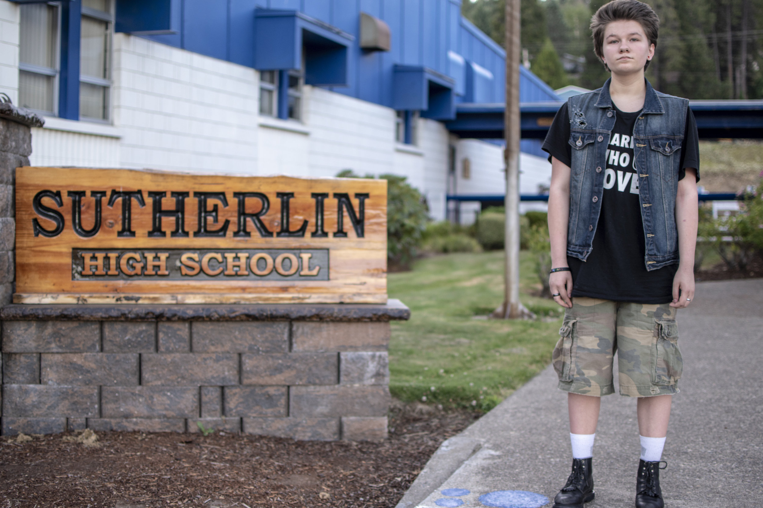 Tyler, a trans student and ACLU of Oregon client — Sutherlin, OR