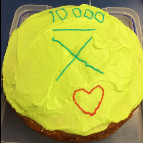 Celebrating our 10,000th delivery with a carrot and apple cake. Homemade with delicious  Wilson's Veges - Farm Fresh  carrots and  Te Mahanga Orchard  apples.