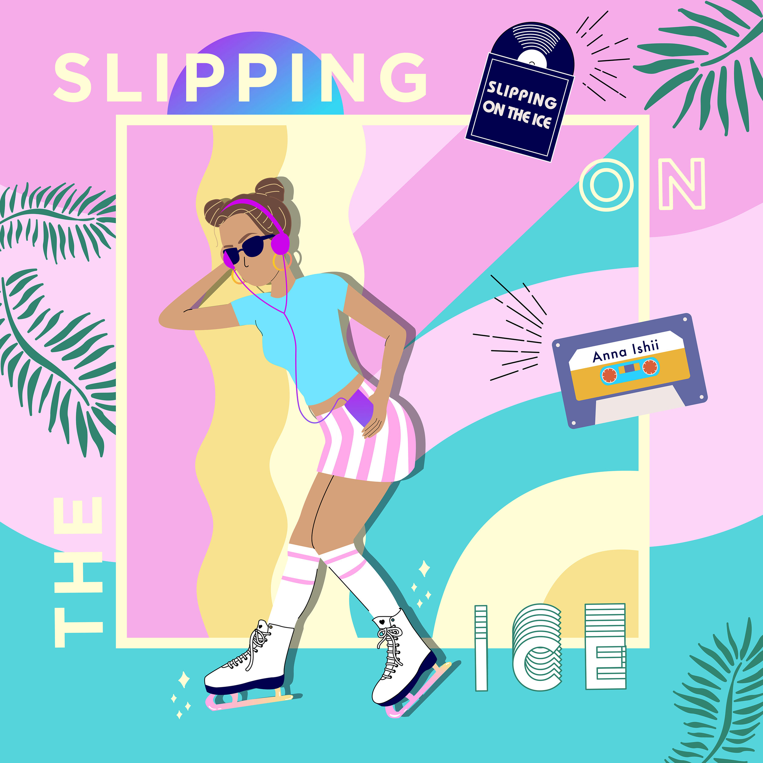 """SLIPPING ON THE ICE (Released 11/1/18)   """"Slipping On The Ice"""" is the song about young love. Graphic design by   @mayde.creative     same as """"Get Away"""".     WATCH HERE"""
