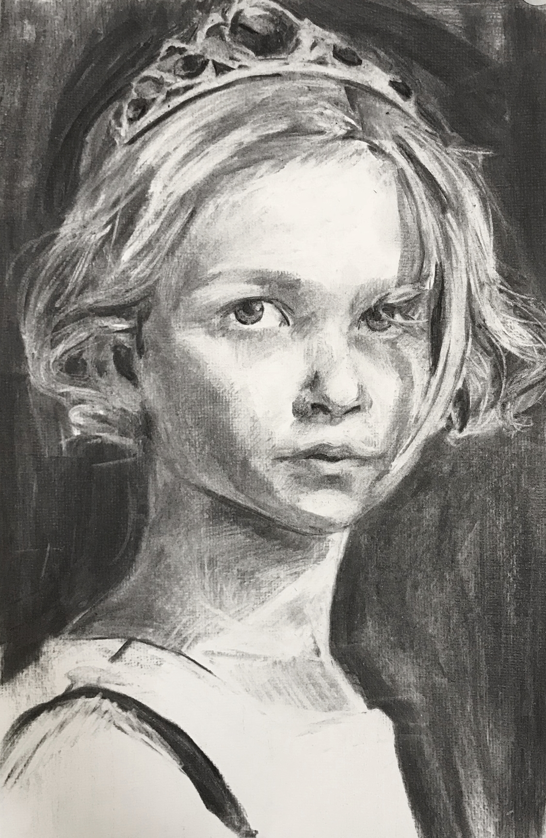 Ellie, Charcoal on paper 2017