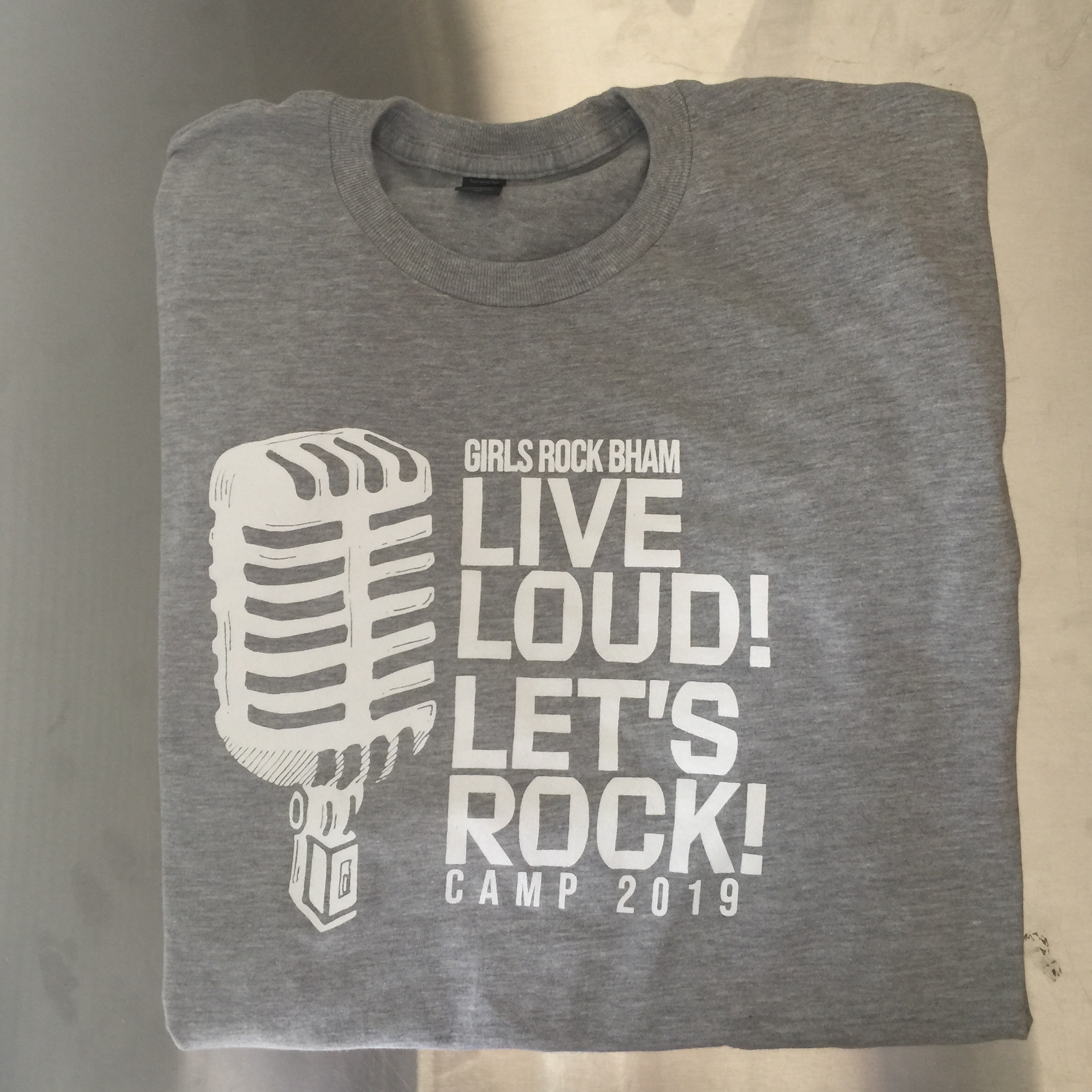 T-shirts for the Girls Rock Bham camp