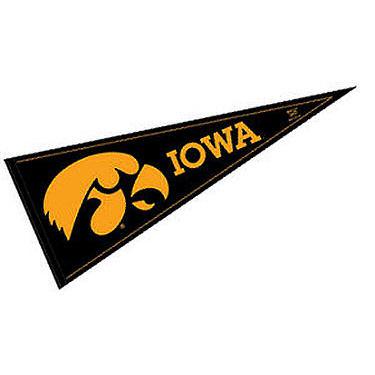 """Iowa Hawkeyes 12"""" X 30"""" Felt College Pennant"""