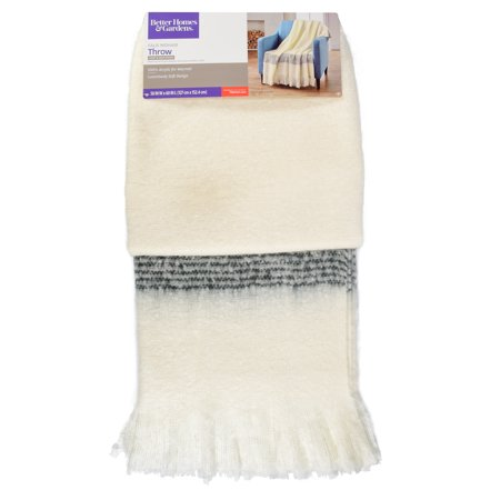Better Homes and Gardens Faux Mohair Plaid Throw Blanket