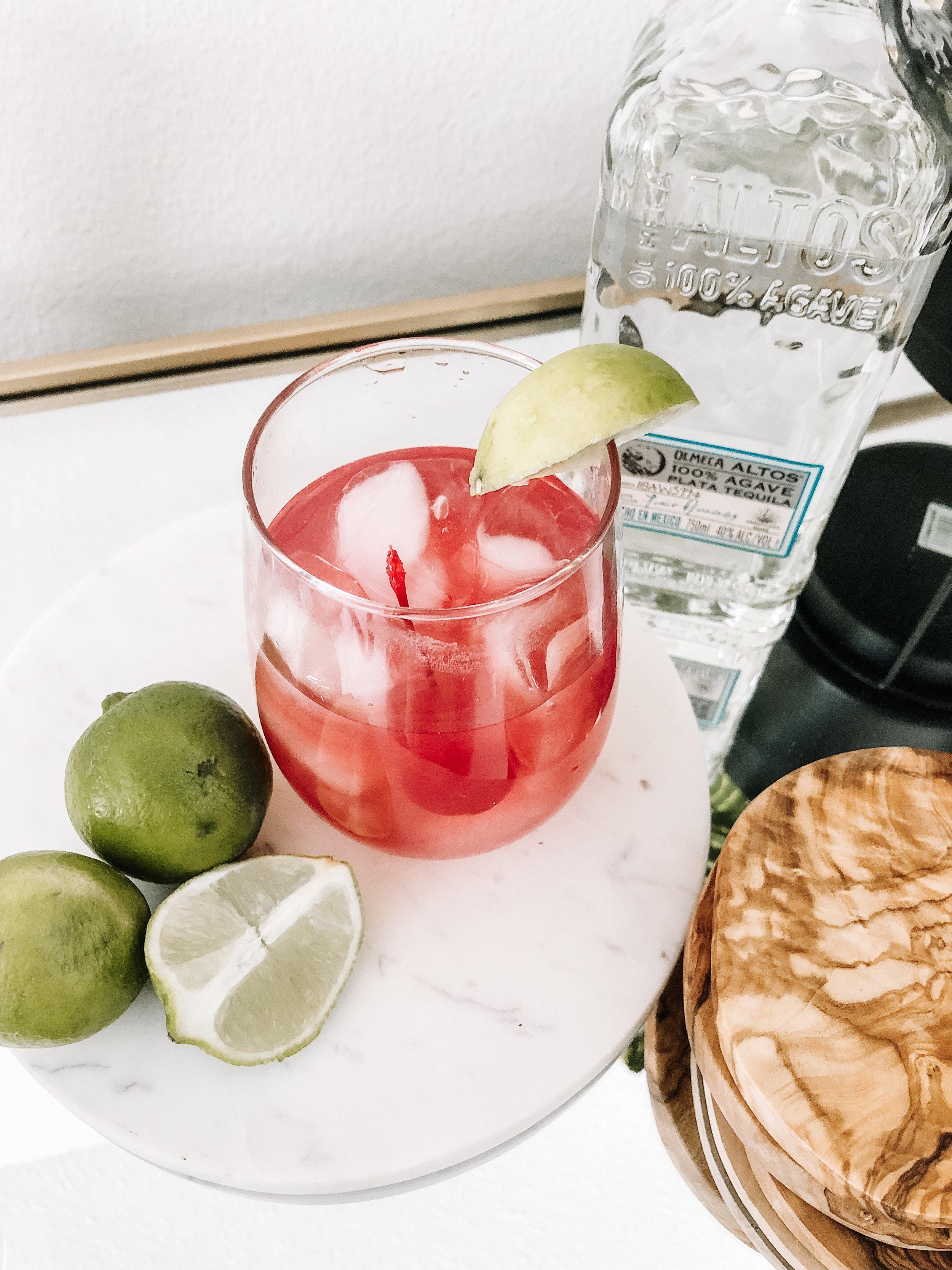 4 Ingredient Maraschino Margaritas Valentines Day Cocktails