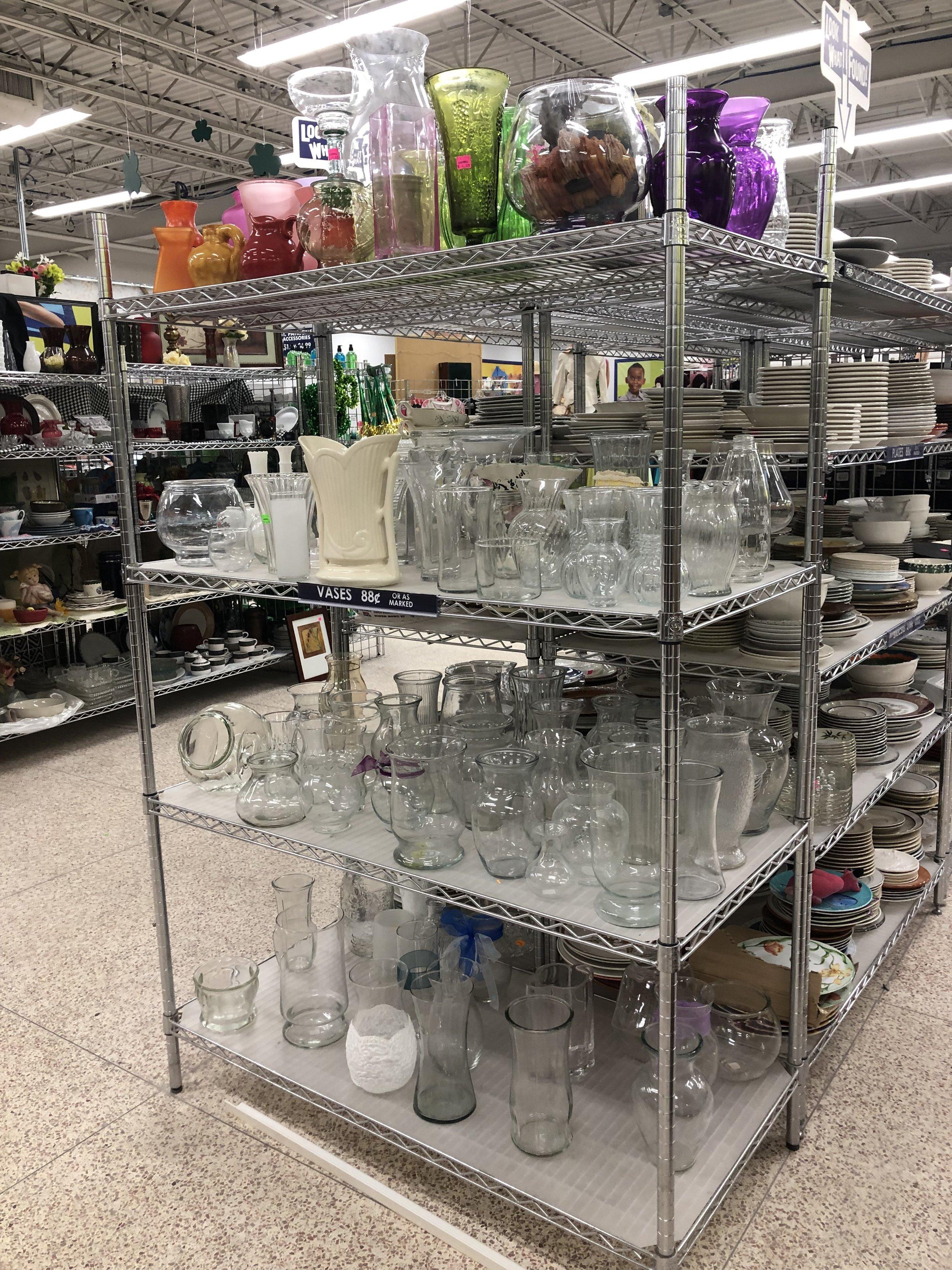 Thrift Shopping Glassware Goodwill