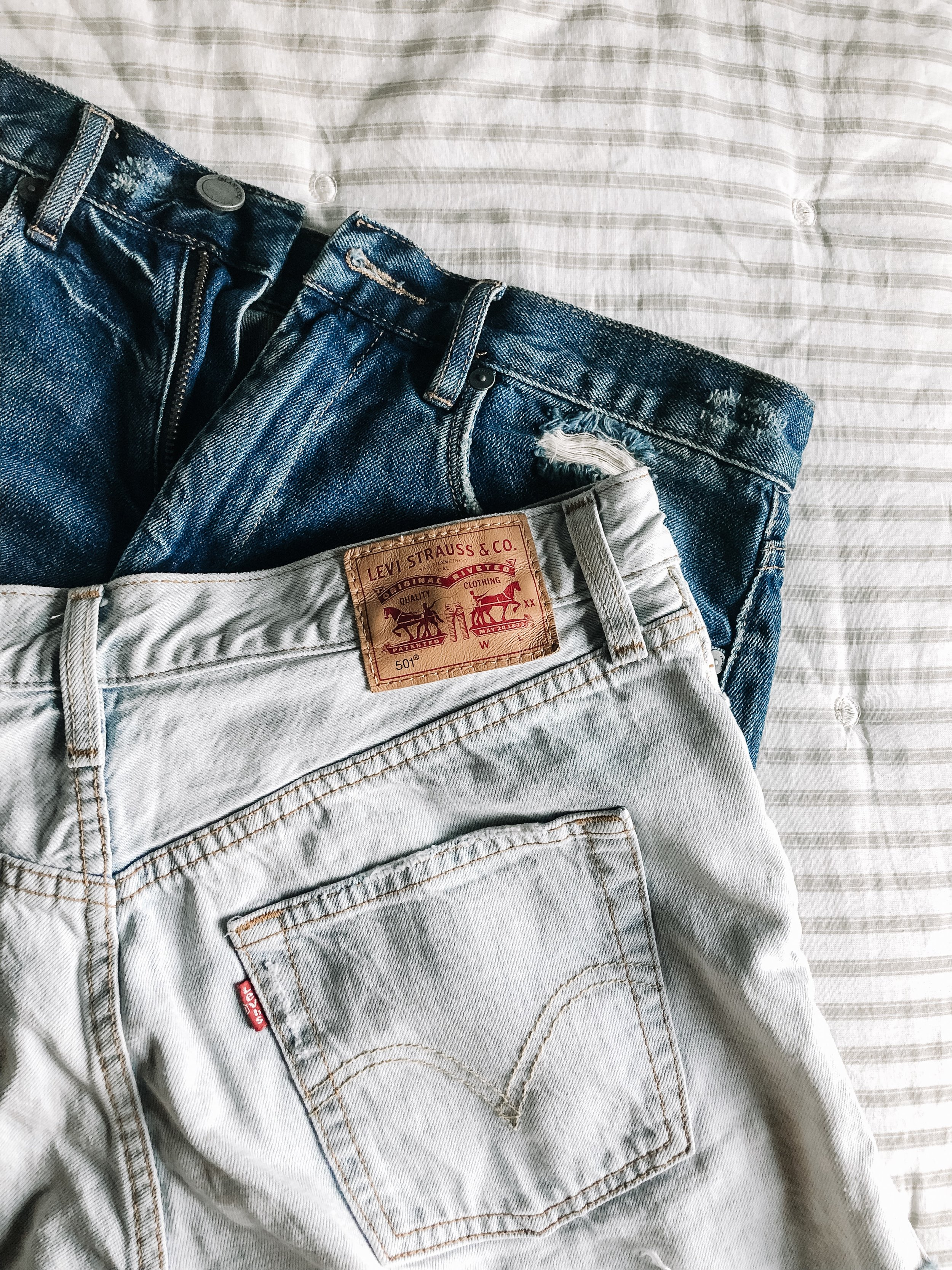 ThredUP Shopping Tips Levi's Jean Shorts Patch