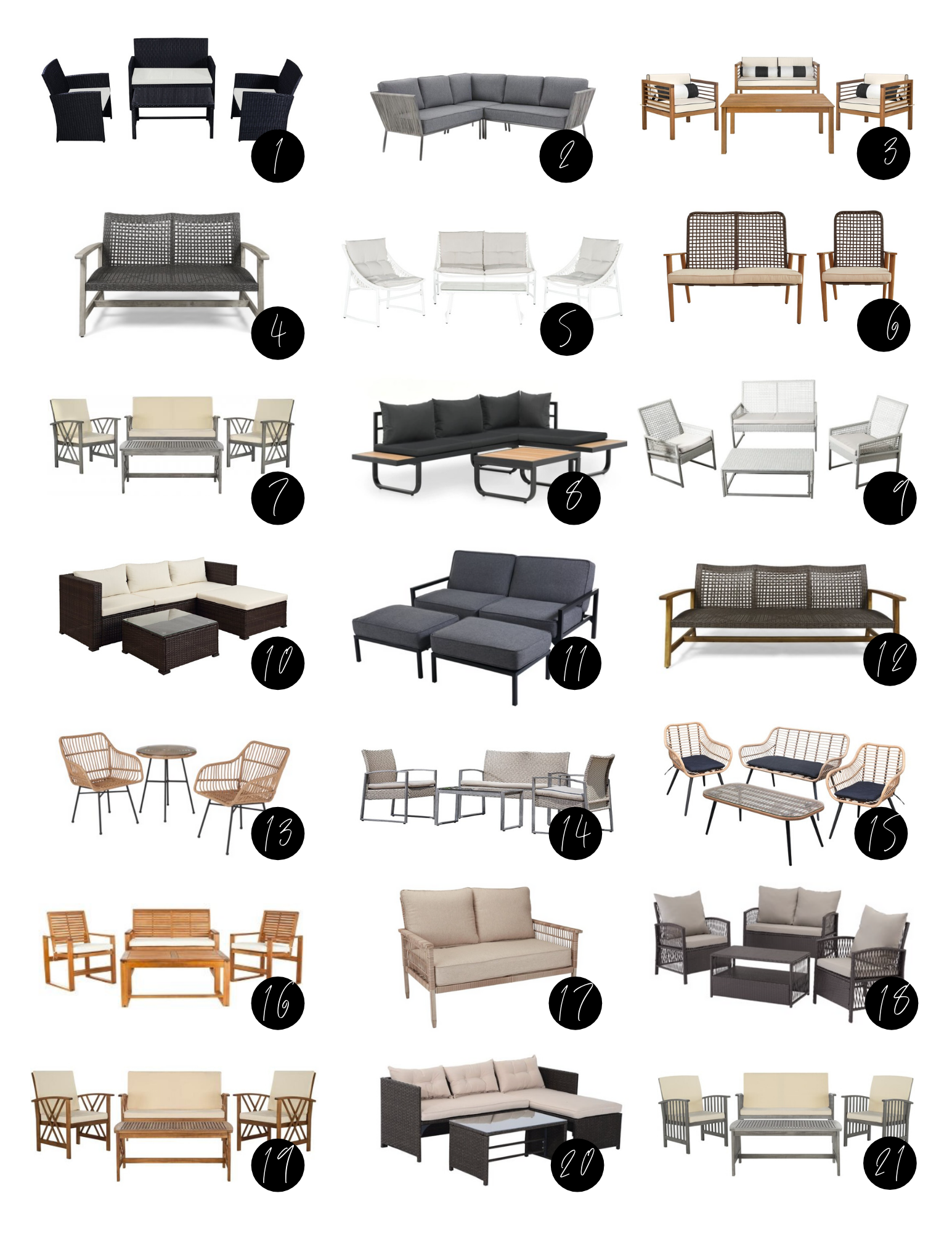 Patio Furniture Sets Under 500 Delaney Lane