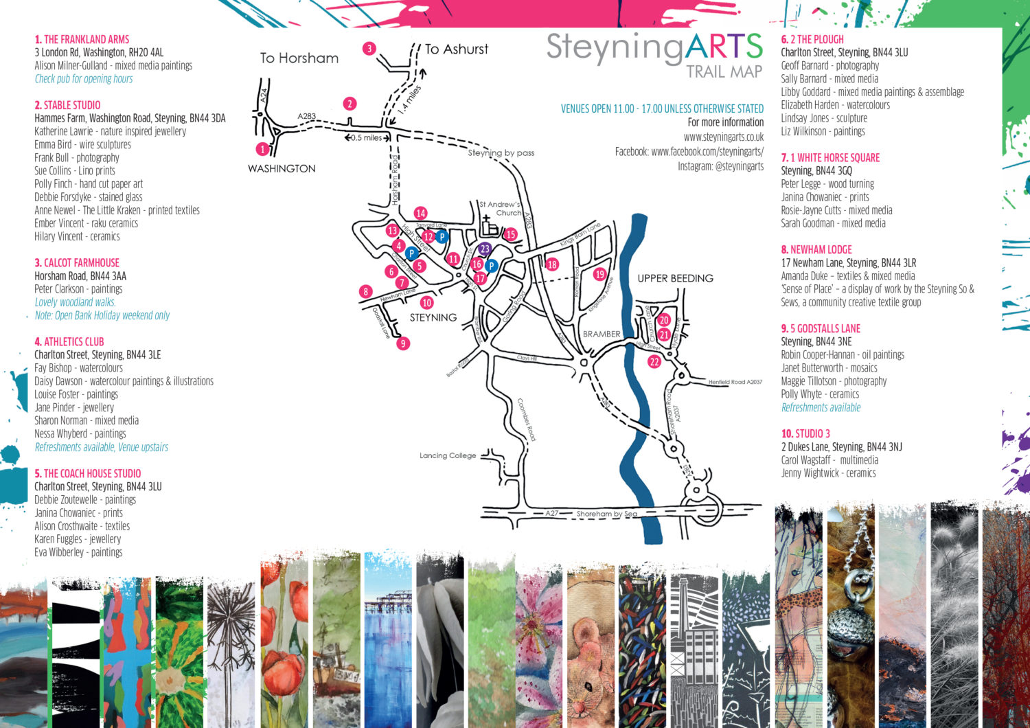 Steyning Arts Trail Map