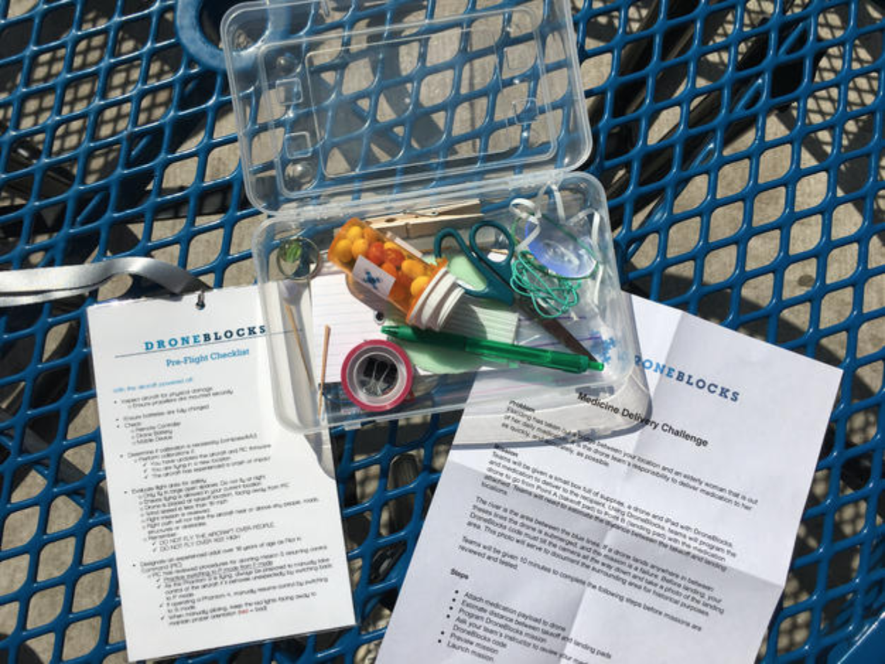 DroneBlocks Medication and Supplies Box