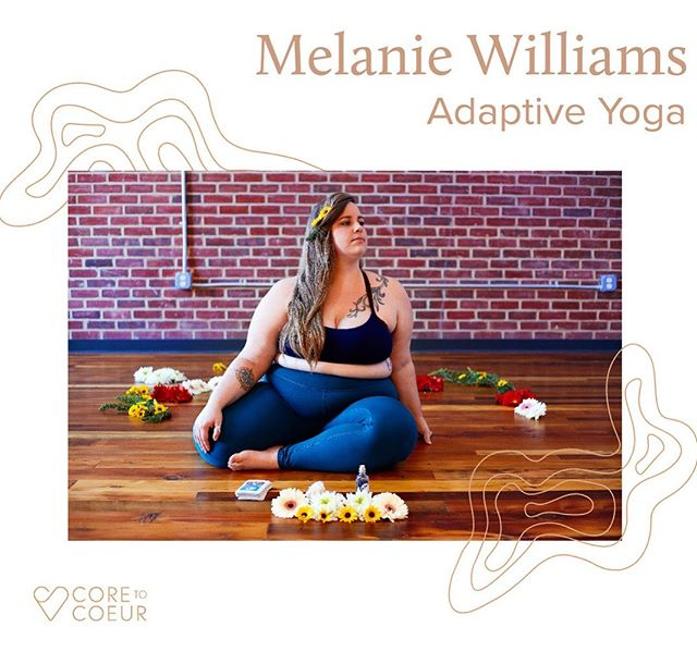 "Introducing M(elanie) Williams @foundspaceyoga : One of Core to Coeur's Founding Instructors. Get notified of our launch to see Melanie's live online #yoga class schedule (link in bio). • • • Melanie Williams (they/them) is a yoga teacher and self-love advocate, called to create profoundly accessible spaces for self-inquiry by integrating mindfulness and adaptive movement practices with the spirit of social justice. Melanie teaches workshops that explore queer identity, body image, pleasure, and agency, trains new teachers in adaptive teaching methods for all bodies and abilities, co-leads the Yoga & Body Image Coalition, and administrates trainings internationally for Accessible Yoga. They've been called a ""tour-de-force of encouraging radical self-love"" (DC Refined) and listed among the ""top thinkers and activists in the field of body positivity"" (OmStars). • • • Welcome to TeamC2C @foundspaceyoga 💪🏼💪🏽💪🏾. 📸: @cinlife"