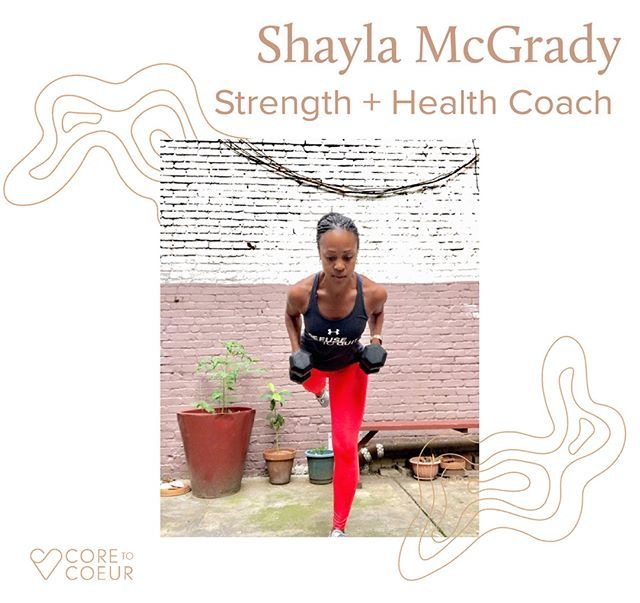 Introducing Shayla MCGrady @shaylamcgrady : One of Core to Coeur's Founding Instructors. Get notified of our launch to see Shayla's live online #Strengthtraining class schedule (link in bio).⠀⠀⠀⠀⠀⠀⠀⠀⠀ •⠀⠀⠀⠀⠀⠀⠀⠀⠀ •⠀⠀⠀⠀⠀⠀⠀⠀⠀ •⠀⠀⠀⠀⠀⠀⠀⠀⠀ Shayla McGrady is a Masters graduate of Buffalo State College. Shayla is a NASM and Power of 10 and P90X certified Personal Trainer. She obtains a Fitness Nutrition Specialist, Health Coach and Life Coach certificate. ⠀⠀⠀⠀⠀⠀⠀⠀⠀ •⠀⠀⠀⠀⠀⠀⠀⠀⠀ •⠀⠀⠀⠀⠀⠀⠀⠀⠀ •⠀⠀⠀⠀⠀⠀⠀⠀⠀ Welcome to TeamC2C @shaylamcgrady 💪🏼💪🏽💪🏾.