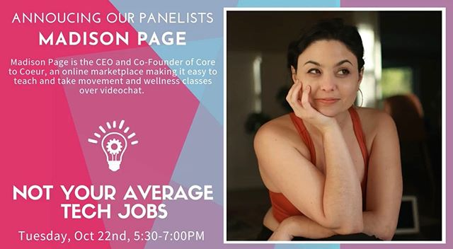 For our clients in Eugene! Madison Page speaking on a panel today @5:30pm for @redefiningwomenintech! Hope to see #clubc2c representing at the Downtown Athletic Club 💪🏾