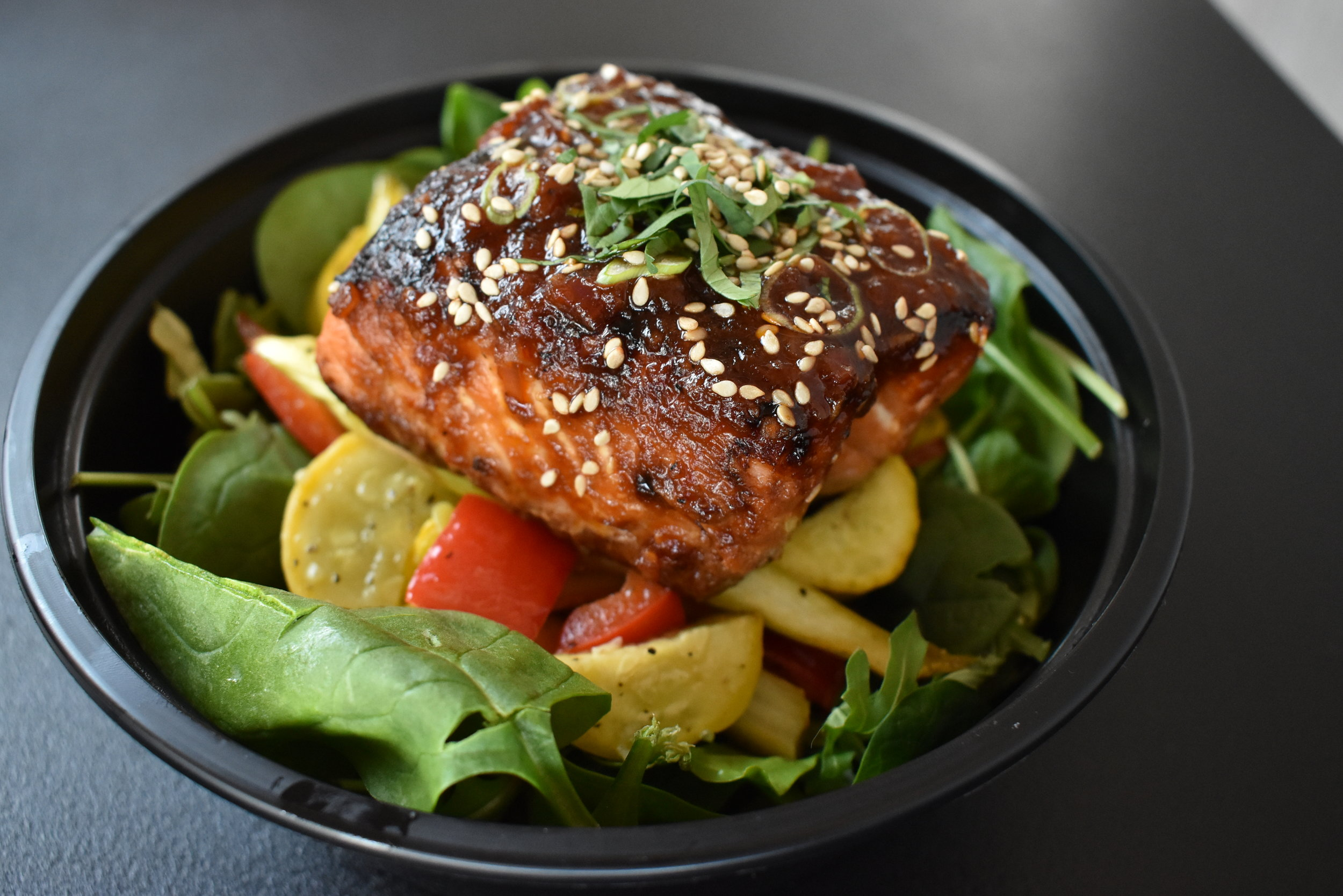 Ginger-Sesame Glazed Salmon -