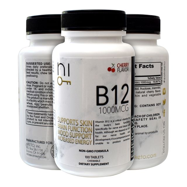 Are you getting enough B12? Being on a #Ketodiet your body sometimes doesn't get the amount of B12 that your body needs. @niketoned cherry flavored B12 is a quick-dissolving, easily digested sublingual supplement that helps keep your Vitamin B12 levels where they need to be. Some other great benefits of B12 is increased energy level,  clear healthy skin and many more! Learn more at or website and order today by clicking the link in bio! . . . . #keto #ketodiet #ketosupplements #supplements #b12 #vitaminb12 #ketolife #ketogenic #ketosis #ketoforbeginners #ketoresults #ketoweightloss #ketofriendly #ketones #fit #fitfam #fitlife #instafit #instaketo