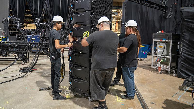 Stagehands- Hanging Audio