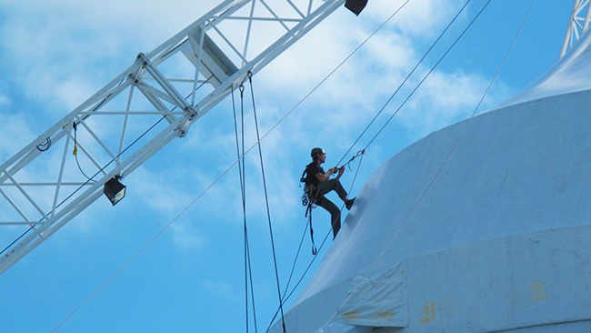 Rope Access - We can work in areas that are hard to access by conventional means.