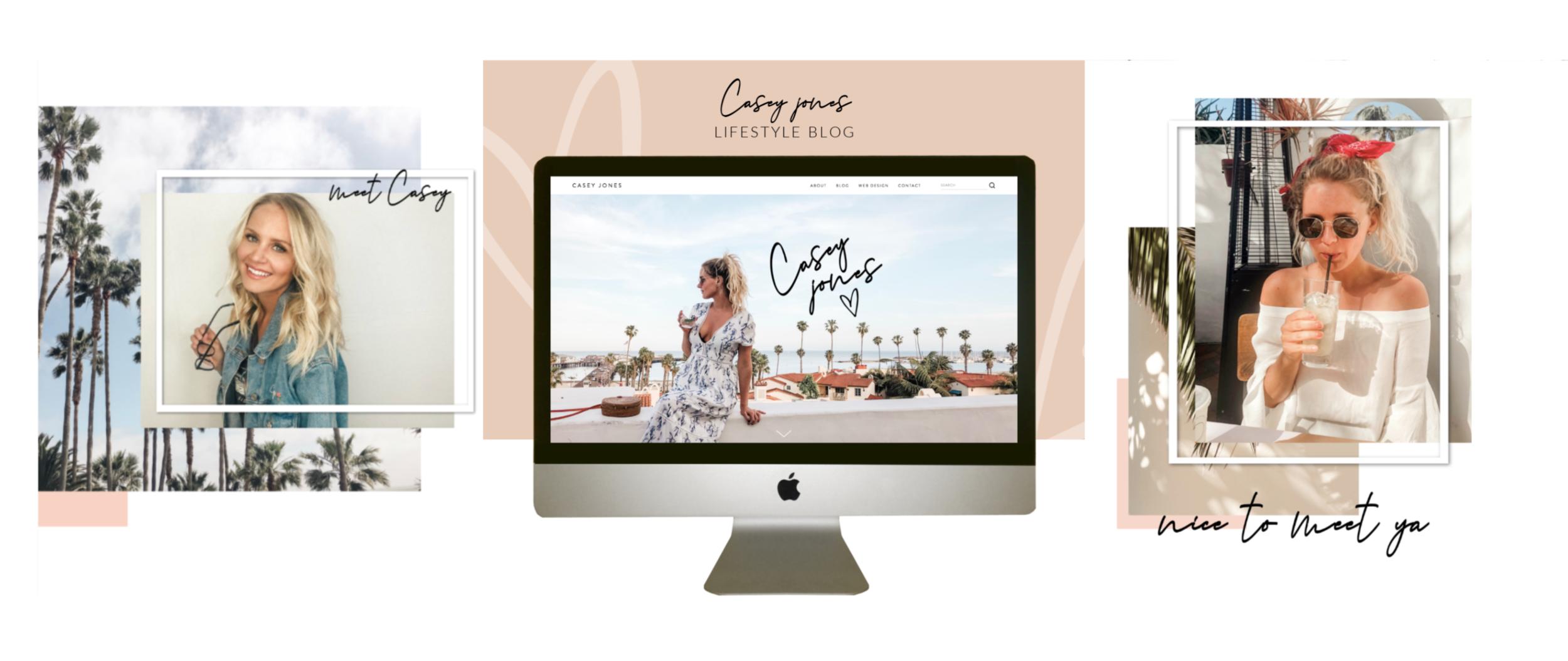 lifestyle blogger custom squarespace design casey jones