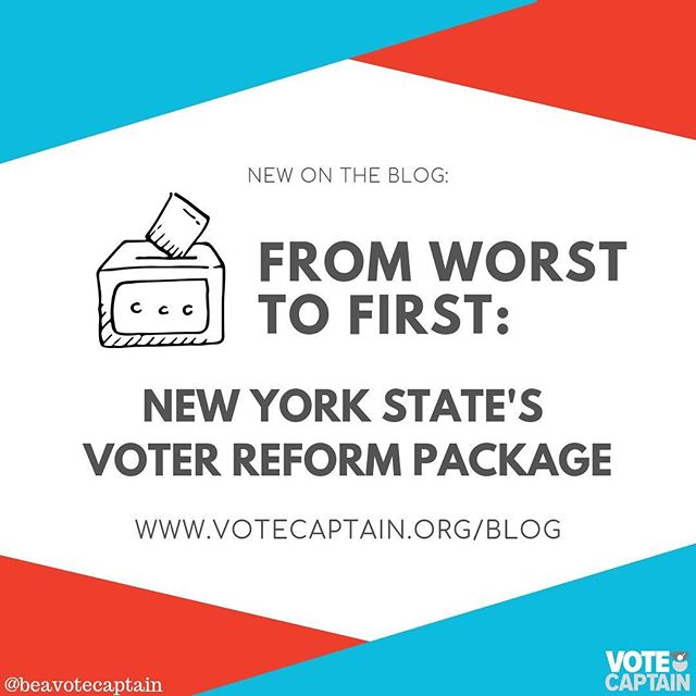 New on the blog: hope! Voters in NY showed up to change the state senate, and it worked! The new legislatures very first order of business was a package of voter reform measures and we couldn't be more thrilled to have been in Albany for their passing. Find out more on the blog! . . . . . . . . . #beavotecaptain #yourvotematters #rockthevote #yourvoicematters #vote ballot box image: Vote by Saeful Muslim from the Noun Project.