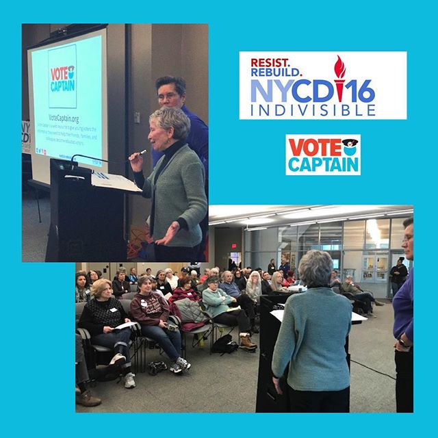 Enjoyed presenting our project to @nycd16indivisible this week! Very excited to continue working with them and the other local groups working to generate interest and involvement in NY state government and beyond! #indivisible #newyork #vote #gotv