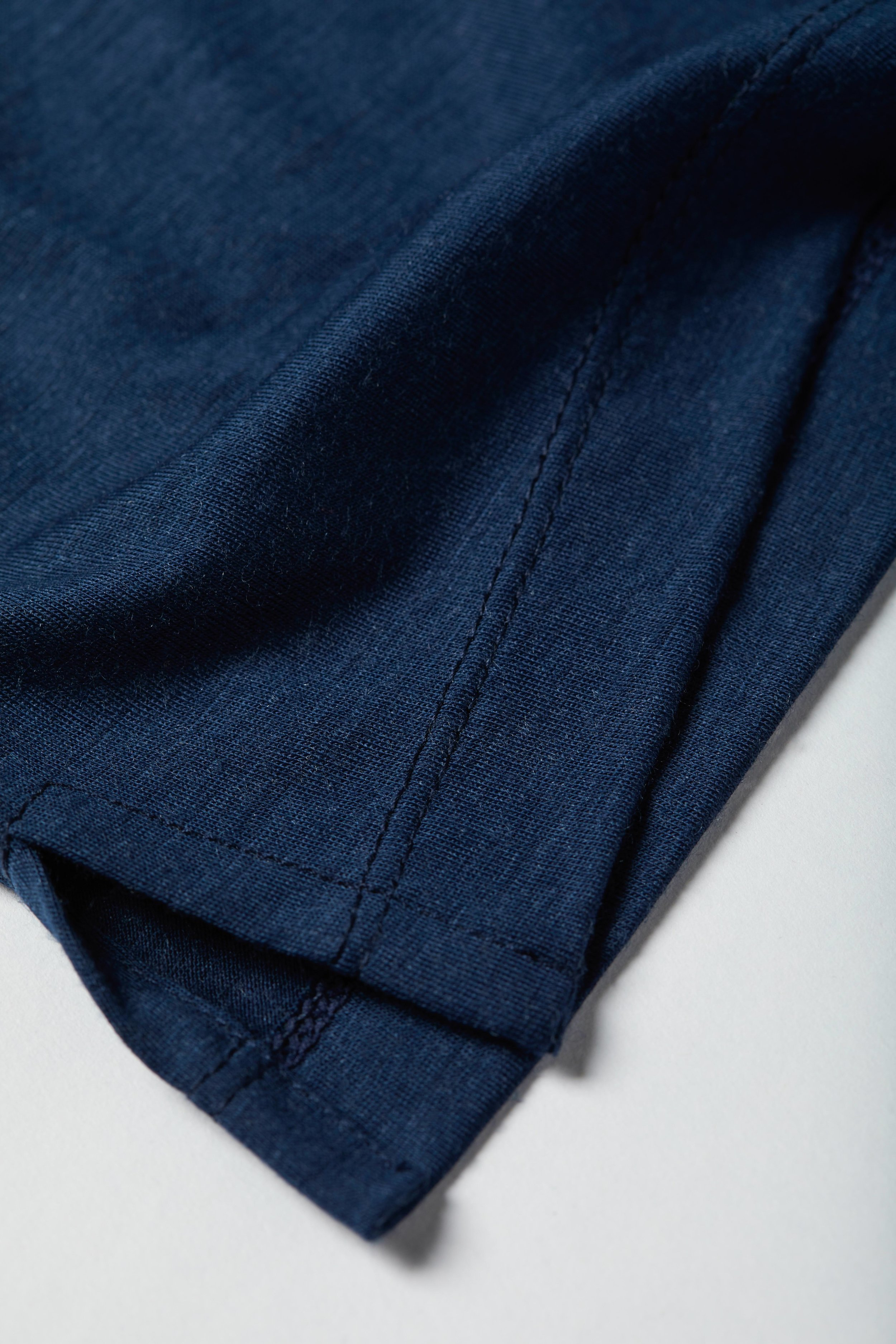 The Ramsie Golf Shirt - Indigo Merino Wool