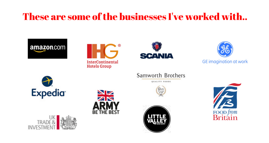 These are some of the businesses I've worked with...jpg