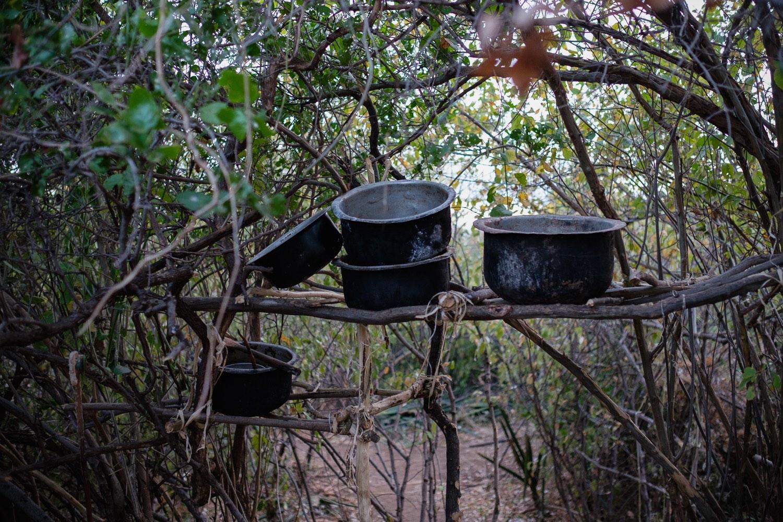 Küche im Camp der Hadzabe