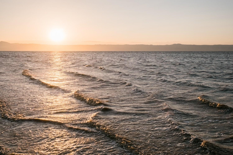 Sonnenuntergang am Lake Eyasi