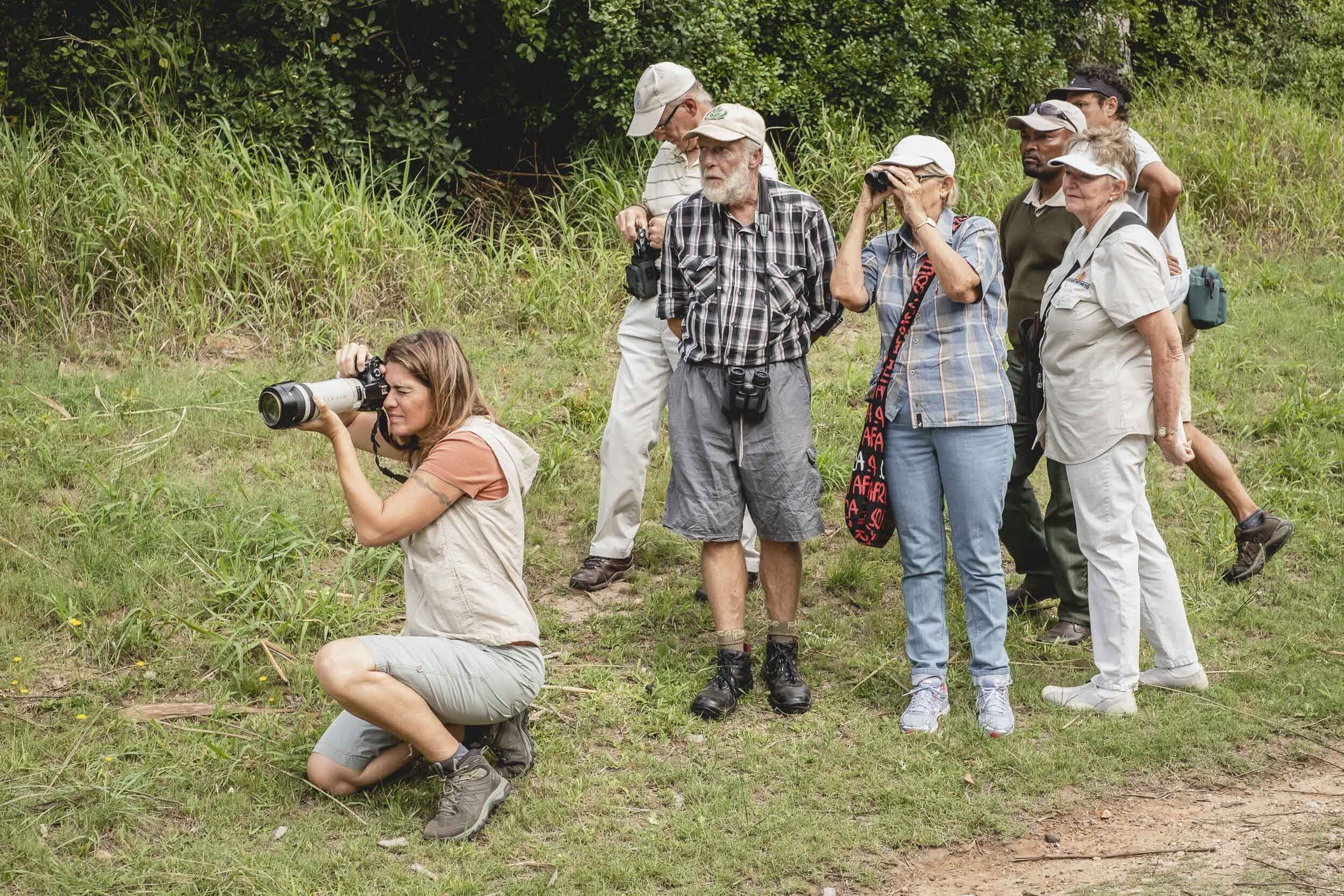 Birding Experience - Come and enjoy a morning of birding in the heart of Port Elizabeth with bird expert Andy Nixon. Settlers Park is a bird magnet in the center of Port Elizabeth. Birds in the park include half-collard Kingfisher, Knysna Woodpecker, Grey Sunbird, Peregrine Falcon, Thick-billed Weaver and Black Cuckooshrike. Knysna Turaco are also common in the park! All levels from beginner to experts welcome!