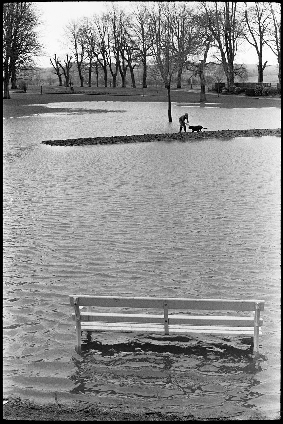 Flooded landscape, February, 1974. Documentary photograph by James Ravilious for the Beaford Archive © Beaford Arts