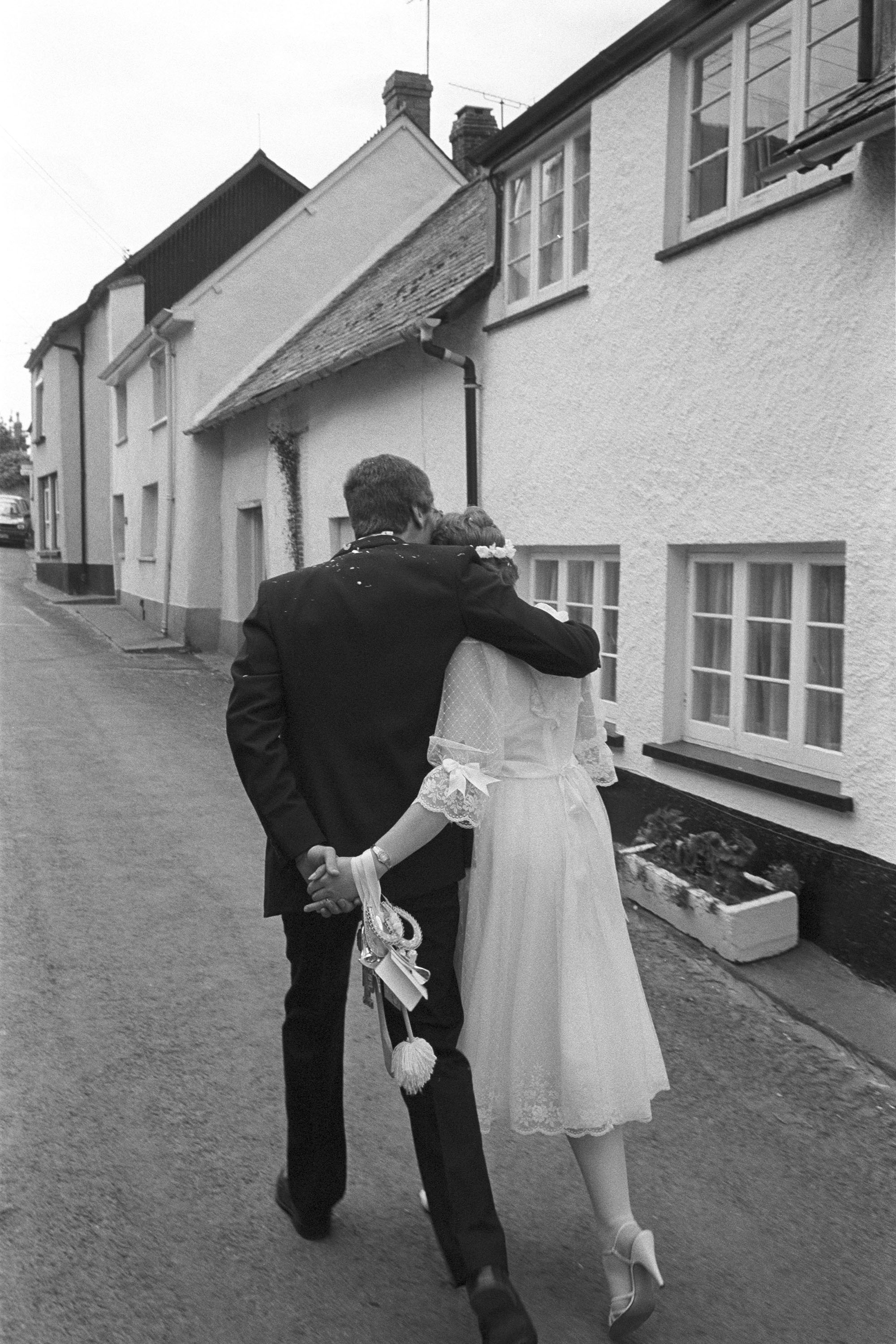 Couple after their wedding, Dolton, 1983