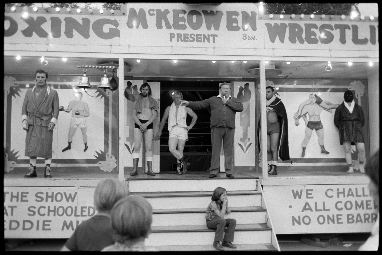 Bideford Regatta, Boxing, Bideford, 9th August, 1973. Documentary photograph by James Ravilious for the Beaford Archive © Beaford Arts