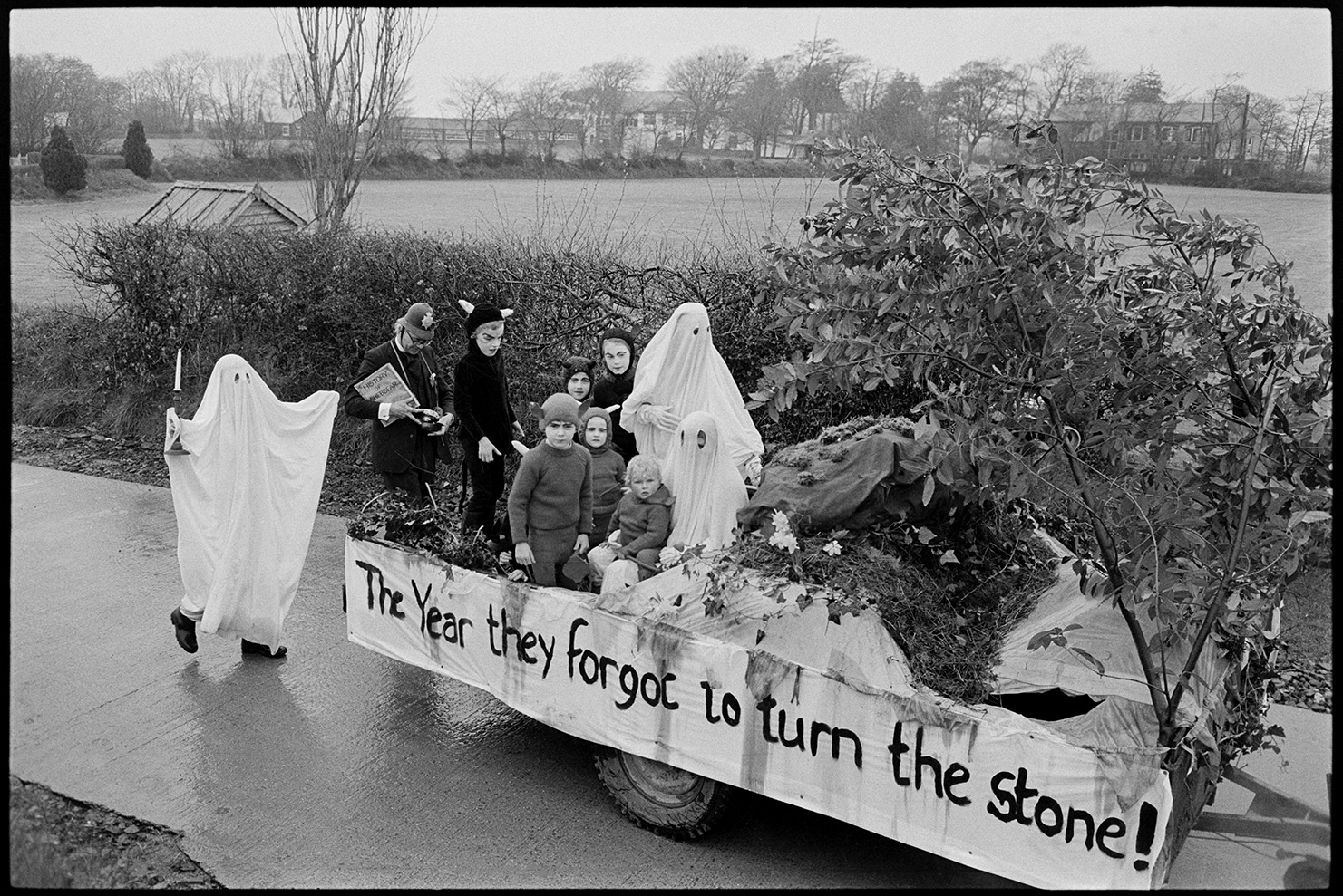 The year they forgot to turn the stone, Shebbear, April 1978. Documentary photograph by James Ravilious for the Beaford Archive © Beaford Arts