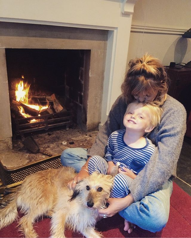 First fire of the season! Autumn is a coming! Loving cuddles with my littlest brother and doggins. #family #brother #fire #autumn #icjewellery 🔥