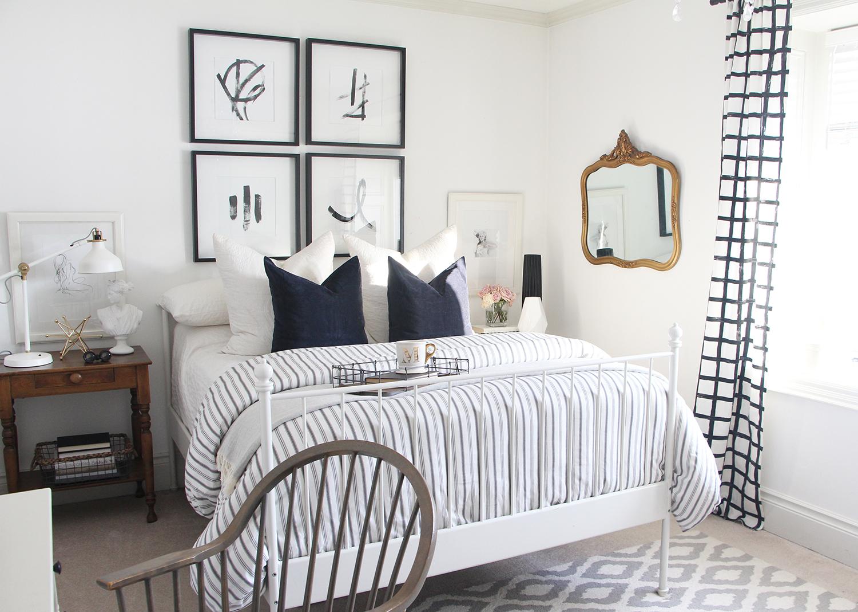 Monochromatic Bedroom Marcy Mussari Interiors