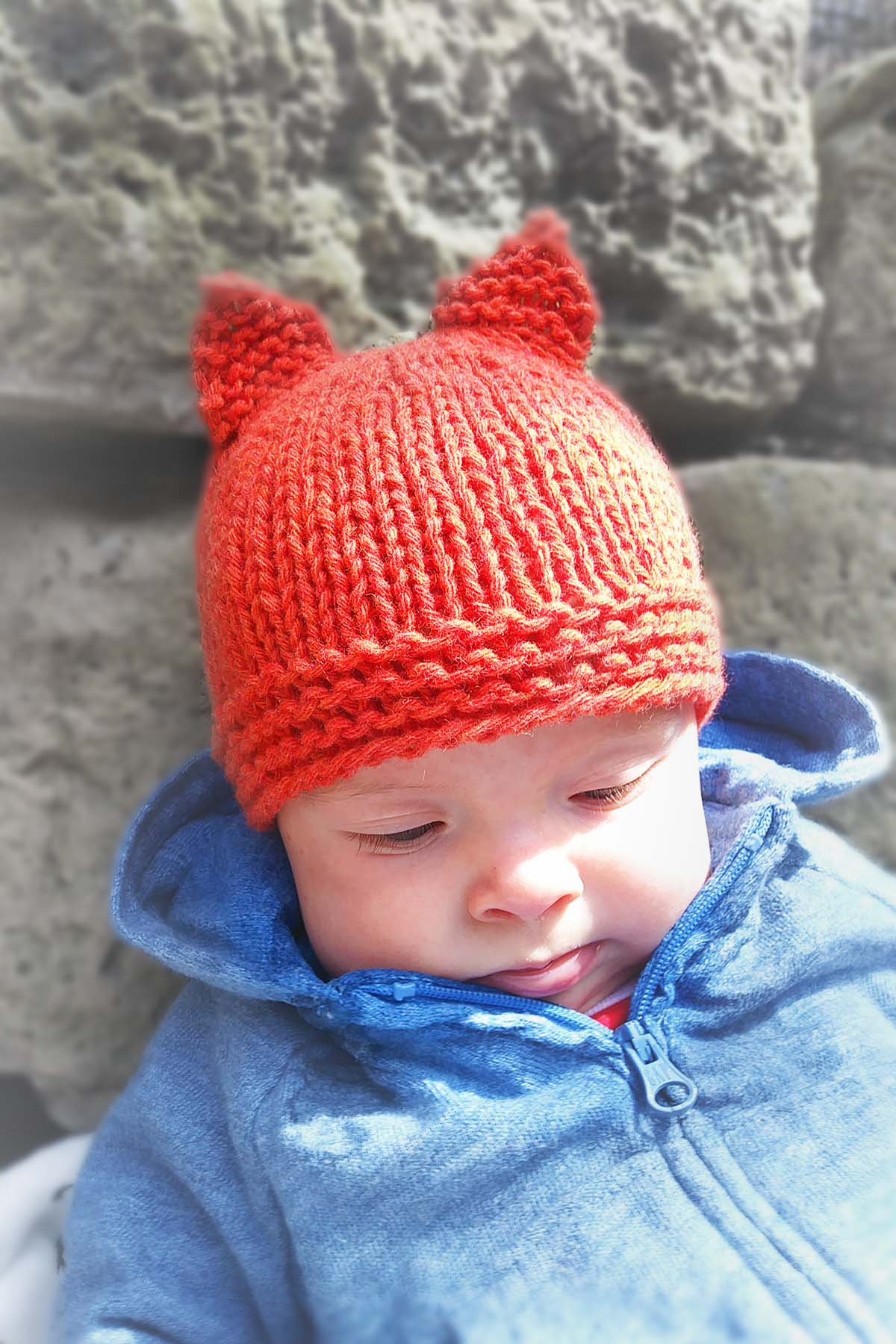 Baby Hat, $40pp - Options: fox, bear, frog, wolf