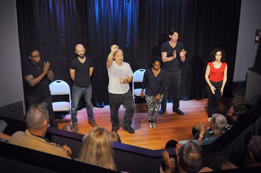 The ensemble performing recently at Smoke & Mirrors theater, Huntingdon Valley, PA.
