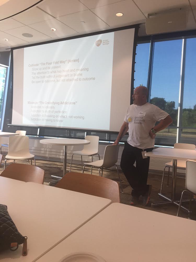 Program Director Benjamin Lloyd leads a workshop for GlaxoSmithKline in Philadelphia.